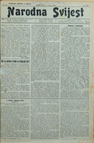 Narodna svijest, 1926/40