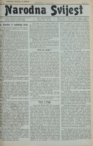 Narodna svijest, 1924/19