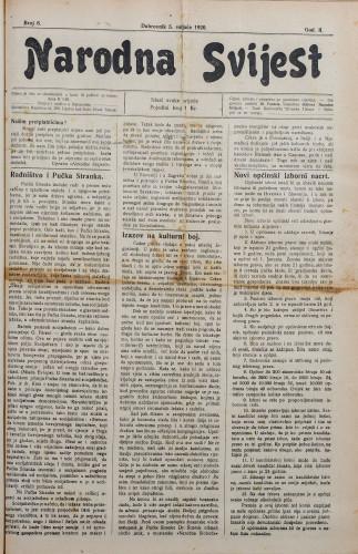 Narodna svijest, 1920/6