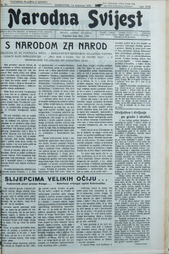 Narodna svijest, 1935/32