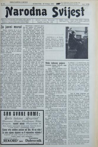 Narodna svijest, 1936/21