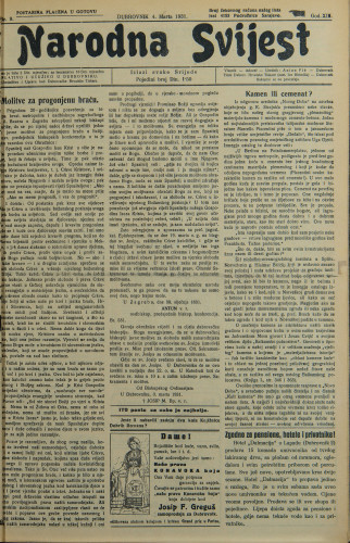 Narodna svijest, 1931/9
