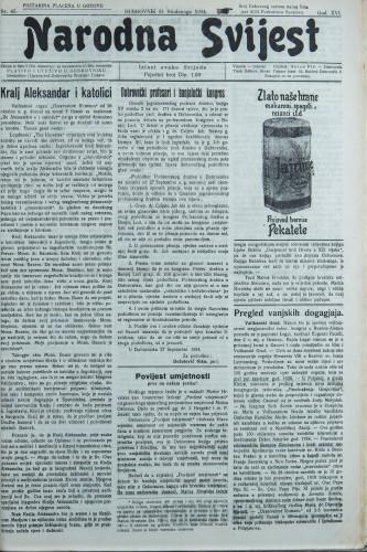 Narodna svijest, 1934/45