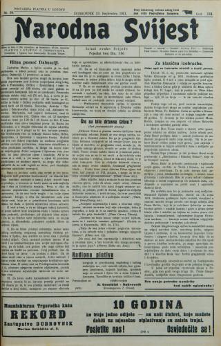 Narodna svijest, 1931/39