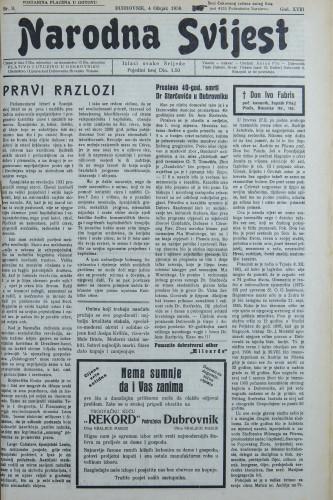 Narodna svijest, 1936/9