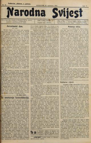Narodna svijest, 1923/41