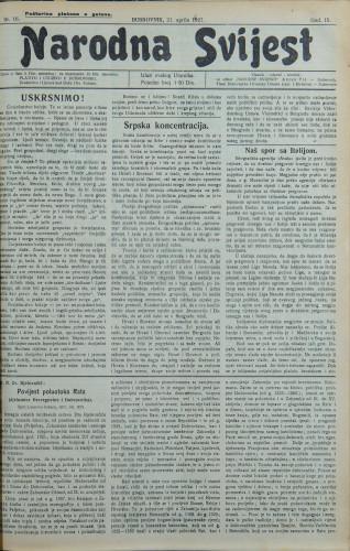 Narodna svijest, 1927/16