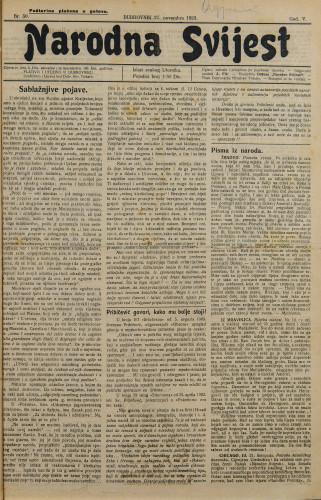 Narodna svijest, 1923/50