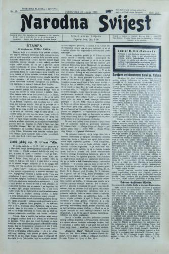 Narodna svijest, 1932/25
