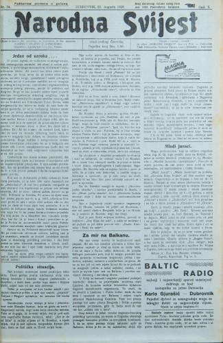 Narodna svijest, 1928/34