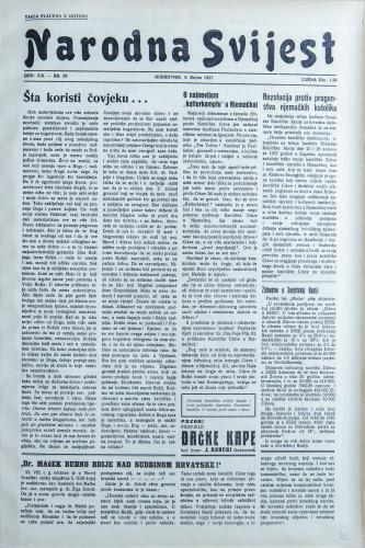 Narodna svijest, 1937/39