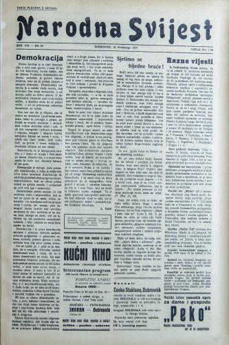 Narodna svijest, 1937/50