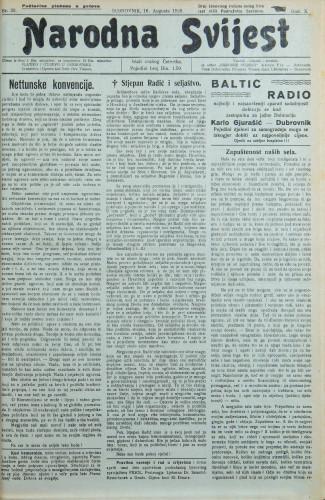 Narodna svijest, 1928/33