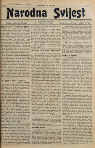 Narodna svijest, 1923/30