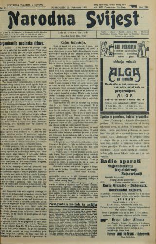 Narodna svijest, 1931/8