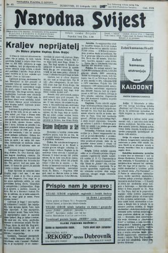 Narodna svijest, 1935/42
