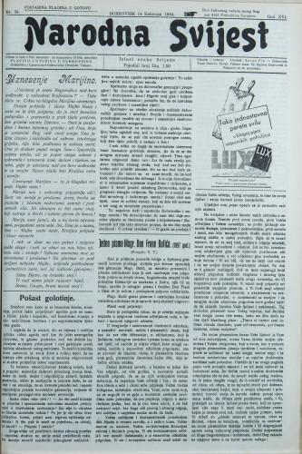 Narodna svijest, 1934/33