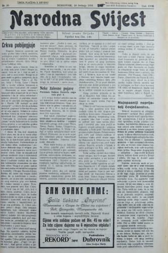 Narodna svijest, 1936/20