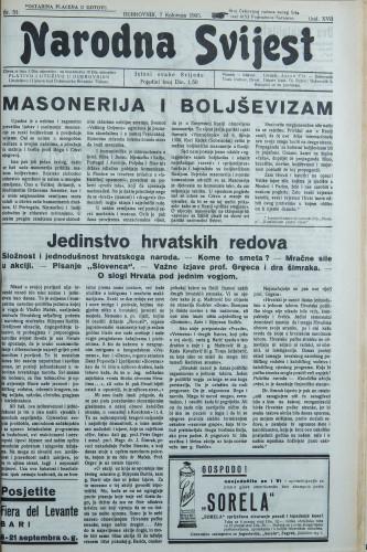 Narodna svijest, 1935/31