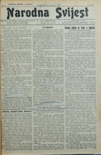 Narodna svijest, 1926/51