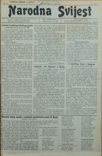 Narodna svijest, 1926/21